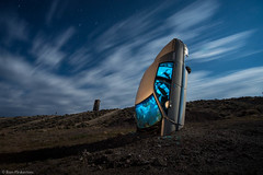 Alone and Blue (dejavue.us) Tags: longexposure nightphotography blue lightpainting abandoned buick nikon desert nevada nikkor d800 goldfield roadmaster 1835mmf3545d vle carforest