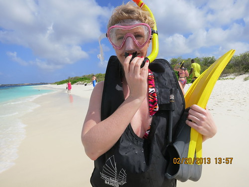 With Rachel at Klein Bonaire sandy beach
