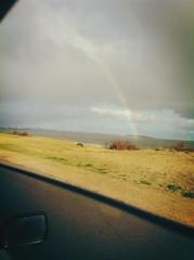 Rainbow (laurw) Tags: road sky rain arcoiris lluvia rainbow rainyday camino cloudy roadtrip cielo nublado díalluvioso