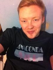 "Andy Springer, rocking the ""Anaconda Vice"" shirt"
