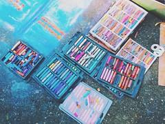 SparkCon 2013 (Dan | Hacker | Photography) Tags: streetart art chalk downtown pastel northcarolina raleigh iphone sparkcon vscocam