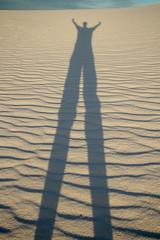 I once caught a fish THIS BIG!!! (gainesp2003) Tags: new shadow usa white monument mexico desert national nm sands