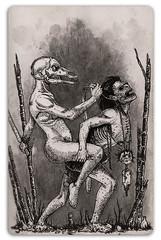 cara-de-cavalo (doug.firmino) Tags: cara morte terror cavalo pretoebranco ilustração bizarro aguada grafite medo nanquim ilustracao trevas grotesco caradecavalo
