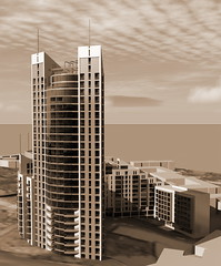 Residential complex (Gasheh) Tags: city building architecture sketch 3d architect residential complex gasheh