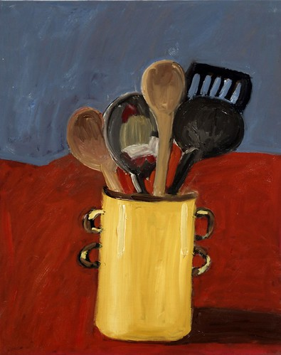 "Kitchen Things - oil on board 16"" x  20"" $800"