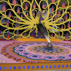 Kolam ( Slices of Light   ) Tags: urban india color colour building festival canon mall shopping painting square sand asia rice indian petronas towers twin crop malaysia twintowers kualalumpur diwali hindu kl tamil klcc kolam deepavali malaisie divali tallest malaysias  malasia ight       kla  g1x