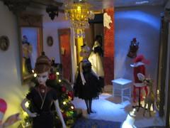 Christmas decor in LaBelle's (Pumpkin Hill Studios/King William Miniatures) Tags: christmas miniatures barbie diorama dollhouse fashiondolls 16scale 111113 fashionroyaltydolls christmas2013inbarbietown