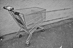 Empty 2 (PhotoFrederik) Tags: white black art metal shop shopping no empty behind cart left hamar lonesome mygearandme