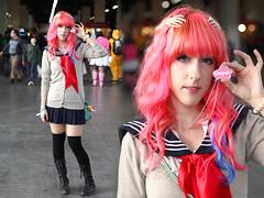 harajuku (Cherriland) Tags: barcelona pink cute girl fashion japan sweet manga lolita harajuku kawaii moe schoolgirl mode japanesestyle seifuku salondelmanga pastelpink outift hairpink faerykei