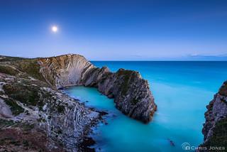 Moonlit Lulworth Crumple, Dorset