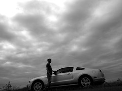 In the Glades (jookdal) Tags: vacation blackandwhite ford clouds nationalpark florida cloudy rental ill everglades mustang greyskies onlycarphotoillevertake