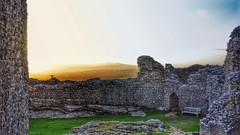 Carreg Cennen Castle at Sunset (deborahmoynihan) Tags: travel sunset castle wales photoshop nikon ruins ngc touch