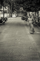 A calm street in Pondicherry (Devanathan Ram) Tags: blackwhite streetphotography pondicherry blackandwhitephotography