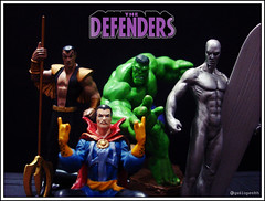 The Defenders - Marvel Heroes (Gui Lopes BH) Tags: classic strange silver toys miniatures action dr surfer statues disney collection knights heroes hulk figurine marvel universe panini figures defenders avengers pvc submariner the namor eaglemoss guilopesbh