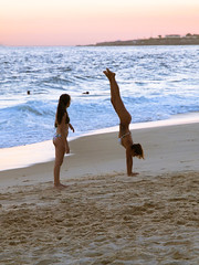 Upside Down (frogdog*) Tags: girls beach riodejaneiro copacabana handstand