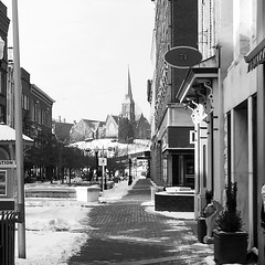 Old Town Charm (Javcon117*) Tags: county street winter bw snow cold brick church square blackwhite md downtown maryland charm baltimore historic covered western format quaint oldtown cumberland allegany laying javcon117 frostphotos instagram flickrandroidapp:filter=none