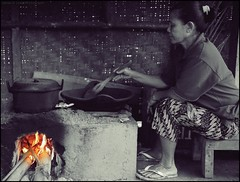 The daily grind (mynameisjimmy79) Tags: travel bali color colour coffee lady composition work indonesia fire photography mix women sitting berries working hard down hut plantation worker pan stir splash expensive seated grind ubud mongoose civet luwak
