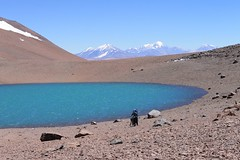 The Laguna next to the 5650m pass between Pissis and Bonete