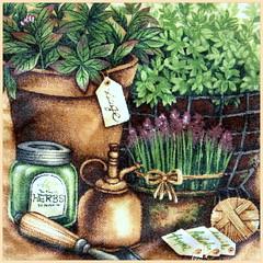 Herbs (Gillian Everett) Tags: design beige fabric section franco ovenmitt ovenglove 2014 coffeecream 365d 365daysincolour