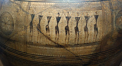 Frieze with standing figures, Dipylon Amphora, c. 755-750 B.C.E. (profzucker) Tags: geometric archaeology greek ceramics athens amphora vase archaic greekarchaic dipylonamphora