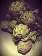 Sicilian Dinner (the tomographer) Tags: food green essen vegetable vegetarian sicily grn gemse artichokes vegetarisch sizilien artischocken