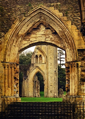 Glastonbury Abbey (etva101) Tags: uk texture architecture photomanipulation buildings glastonbury sincity glastonburyabbey somersetcounty historicallandmark artdigital exoticimage kurtpeisergallery