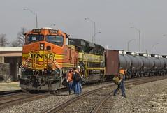 Changing Crews_MG_2306 (Kool Cats Photography over 6 Million Views) Tags: railroad orange oklahoma train canon rail transportation locomotive bnsf oklahomacity transporting tankcars 5308 canont3i