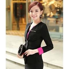 เสื้อสูท แฟชั่นเกาหลีสวยใส่ดูงานหรูออกงานราชการใหม่ นำเข้า ไซส์S สีดำ - พร้อมส่งTJ7251 ราคา1450บาท สื้อสูทแฟชั่นทันสมัยแบบสาวเกาหลีสวยได้เป็นยูนิฟอร์มที่ลงตัวสามารถใส่สวยได้ทุกวัย สั่งซื้อเสื้อสูทแฟชั่นพร้อมส่งรุ่นใหม่สวยๆออนไลน์ที่ร้าน LOTUSNOSS ได้แล้วว