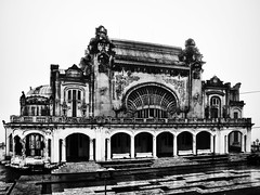 Casino (MarAlexandru) Tags: venice urban bw white abstract black building lines town blackwhite pattern geometry perspective style casino romania bnw desing wather constanta monocrome arhitecture compozition