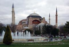 Hagia Sophia (profzucker) Tags: architecture mosaic minaret istanbul mosque dome ottoman orthodox hagiasophia byzantine constantinople easternorthodox justinian isidore revetment miletus hagiasophiamosque tralles pendentive semidome anthemius pencilminaret