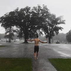 At the end of three days of building up sweat and gunk, time for a rain shower. #TheWorldWalk #travel #twwphotos