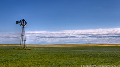 The Windmill (westrock-bob) Tags: morning blue summer copyright canada colour windmill weather canon eos dawn peace wind ab bluesky alberta crop weathered prairie agriculture plains 6d canon6d canoneos6d bobcuthillphotographygmailcom bobcuthill