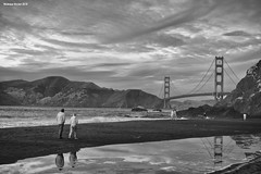 Baker Beach (naturalturn) Tags: beach goldengatebridge goldengate golden gate bridge ocean pacific pacificocean water infrared blackwhite blackandwhite bakerbeach sanfrancisco california usa image:rating=5 image:id=215348