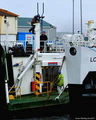 Scotland Greenock the ship repair dock men working on the electric car ferry Loch Invar 13 March 2017 by Anne MacKay (Anne MacKay images of interest & wonder) Tags: scotland greenock ship repair dock workmen caledonian macbrayne electric car ferry loch invar xs1 13 march 2017 picture by anne mackay
