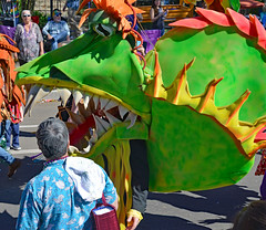 CHOMP! (BKHagar *Kim*) Tags: bkhagar mardigras neworleans nola la party celebration parade dragonsofneworleans kreweoftucks krewe outdoor day people crowd dragon dragons colorful carnival street napoleon uptown