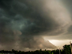 Supercell from 2010 (Dan's Storm Photos & Photography) Tags: thunderstorm thunderstorms thunderstormbase thundershower skyscape skyscapes sky shelfcloud severethunderstorm supercell supercellthunderstorm shelf storms landscape landscapes weather wallcloud wisconsin wallclouds nature updraft updrafts clouds convection clear slot