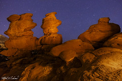 Siamese Twins Under the Stars_MG_0235 (Alfred J. Lockwood Photography) Tags: alfredjlockwood nature landscape nightsky stars rockformation siamesetwins gardenofthegods lightpainting sandstone colorado zeiss