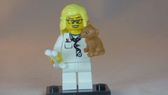 Brick Yourself Custom Lego Figure Vet Dog & Bone