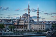 Yeni Cami - Eminonu (Aleem Yousaf) Tags: yeni cami new mosque eminonu galata bridge sultan minarets d800 70200mm istanbul photo walk sky clouds outdoor cityscape turkey