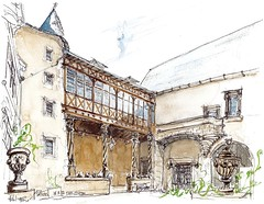 Poitiers, Hôtel Fumé (Croctoo) Tags: croctoo croctoofr croquis aquarelle watercolor poitou poitiers poitoucharentes ville