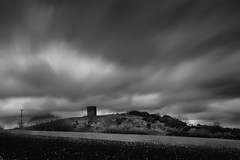 Storm Ewan at the beacon (g a millington) Tags: billinge england unitedkingdom gb storm mono beacon billingebeacon billingelumo folly ruin hilltop peak moody skyscape skies cloudscape longexposure movement movingclouds threatening moodysky