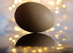 Egg ... (MargoLuc) Tags: macromondays theme egg macro golden bokeh reflection pastel food pink