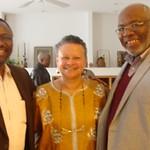CAS Celebrates Title VI Grant Award: Provost Ilesanmi Adesida, Dr. Merle Bowen, and Dr. Ron Bailey (left to right)