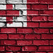 National Flag of Tonga on a Brick Wall