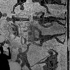 Ostia Antica, Terme di Porta Marina (pom.angers) Tags: panasonicdmctz30 february 2017 rome roma ostia ostiaantica lazio italy italia europeanunion ancientrome mosaic 2ndcentury art termediportamarina nude naked malenude 100