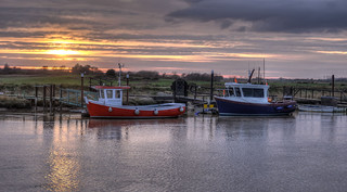 Sunset over the River Blyth, Suffolk