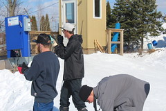 The guys approve (Eileen Marie Art & Photography) Tags: photography candidphotography wintertime winterweather snowsports outdoorphotography digitalphotography canonphotography canoncamera nofilters noediting vantagepoint perspective pointofview enjoyingthemoment fun people snowboarders mountainlifestyle lifestyle mountainlife outdoors candidphoto candid reaction ondeck participants onlookers guys