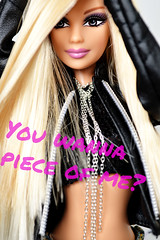 You wanna piece of me? (sailorb1959) Tags: barbie fashion fever mackie britney spears brinty skinny legend candies dolls mattel mommy extensions gimme more you wanna piece me kohls 2005 brown eyes