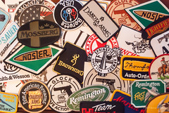 Patches (Back Road Photography (Kevin W. Jerrell)) Tags: patches stilllife nikond60 firearmrelated gunmanufacturers ammunitionmanufacturers