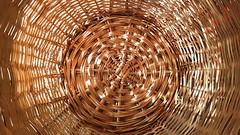 Sunrise Basket (Denis Moynihan) Tags: basket weave light shade morning sun sunrise pattern wicker illumination